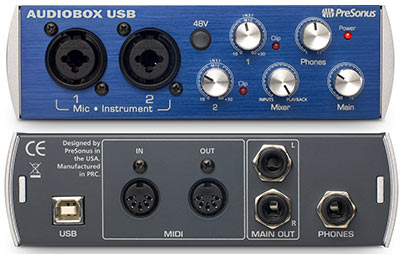 presonus-audiobox-back-and-front-view