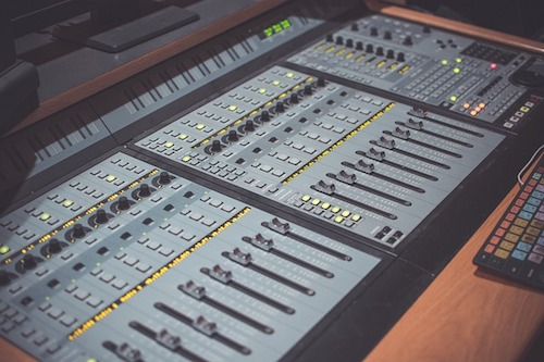 studio recording desk